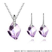 Wholesale Crystal Gifts For Men - 2015 Mother's Day gift! Crystal pendant necklace earrings set Made with SWAROVSKI ELEMENTS gift items for men