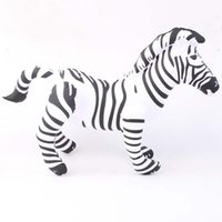 Wholesale Cheap Toy Horses - Wholesale-new birthday presents best, the classic giant inflatable zebra zoo horse toys indoor and outdoor cheap latex balloons big anima
