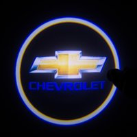 Wholesale Car Shadow Ghost Light - free shipping 2 X 4th Gen LED car door Ghost Shadow laser projector logo light for Chevrolet Car 3D Welcome Light Door Courtesy Laser