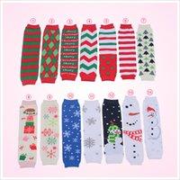 Wholesale Infant Arms - Christmas Baby Leg Warmer infant colorful Santa leg warmer child socks Legging Tights Baby Skull Leg Warmers Adult Arm Warmers