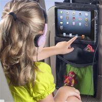 Wholesale baby tablets - Wholesale- Auto Back Car Seat Organizer Holder Multi-Pocket Travel Storage Hanging Tablet PCs Mummy Bags Baby Car Seat ipad Hanging Bag