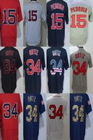 Wholesale Dustin Pedroia Jersey - 2017 Wholesale Mens Womens Youth Toddlers Boston 34 David Ortiz 15 Dustin Pedroia Blue White Red Cheap Cool Flex Base Baseball Jerseys