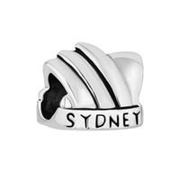 Wholesale Sydney Charms - 10 pcs per lot Slide Bead Sydney Opera House Shaped Lucky European Charm Spacer Fit Pandora Bracelet