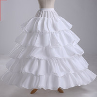 Wholesale Modest Wedding Dress Free Shipping - White 5 layers A Line Bridal Petticoat For Wedding Dress Underskirt Bridal Petticoat Bridal Accessories In Stock Modest Free Shipping