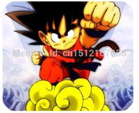 Compra Mouse Di Pallacanestro-All'ingrosso-Divertente Anime Dragon Ball Goku pelle Print on 180x220mm antiscivolo resistente Mouse Pad Mat per il computer portatile Tablet PC Computer