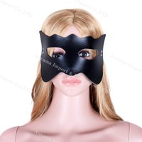 Wholesale Masquerade Masks Sex - Adult Game Fetish Eyes Mask Rhinestone Masquerade Leather Mask Intimate Sex Toys For Couples Eyes Mask Free Shipping