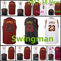 2017-18 New Cleveland Cavalier Trikot 23 LeBron James 9 Dwyane Wade 0 Kevin Liebe 5 Jr Smith 1 Derrick Rose 3 Jesaja Thomas Swingman Trikots