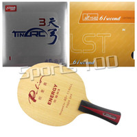 Wholesale Combo Table - Wholesale- Pro Table Tennis Combo Paddle Racket Palio ENERGY 03 Long Shakehand-FL with DHS TinArc 3 and 61second DS LST