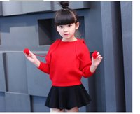 Wholesale Preppy Clothes For Women - 2016 Spring autumn girls clothing set floral kids suit set casual two-piece sport suit for girl tracksuit children clothing
