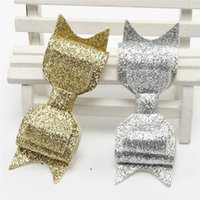 Wholesale Shining Headwear Kids Accessories - Baby Girl Sequins Bow Barrettes Kids Girl Princess Shining Headwear 2016 Children's Hair accessories babies hair clip