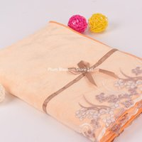 Wholesale Towel Factory Outlet - large bath towel 70 * 140cm thick 400g absorbent microfiber polyester and nylon lace edging a large bath towel factory outlets