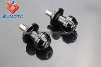 Wholesale Slider Spools - Motorcycle CNC 10mm stands Swingarm Spool Slider Bobbin For Kawasaki Ninja ZX ZRX ZZR ER6 636 Black Hades M53699
