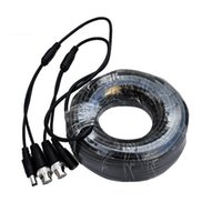 DHL free 18m Video Power Siamese Cable for Surveillance security Acessórios para Câmera CCTV DVR Kit system