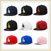 Wholesale basketball strapback - Brand Fitted LA Baseball Caps Bone Strapback Bones Snapback Caps Snap Back Casquette Gorras Basketball Hip Pop cap for Men Women
