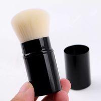 Wholesale Retractable Foundation Brush - classic makeup brush with logo Portable retractable mushroom brush foundation powder blush brush with logo box