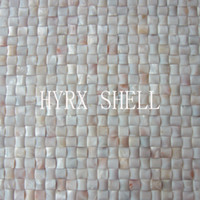 Wholesale 2016 style HYRX mother of pearl semiarch shape shell mosaic tiles Factory direct sale home improvement kitchen backsplash