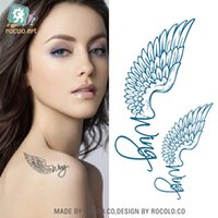 All'ingrosso-Rocoo Art Tattoo impermeabile Sticker Modelli Femminili inglesi Ala ali d'aquila e un piccolo dolce Temporary Tattoo Sticker HC1005
