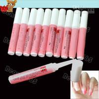 decorar las uñas al por mayor-100 unids / lote Pink Nail Glue 2g Mini belleza profesional Nail Art pegamento de acrílico decorar consejos