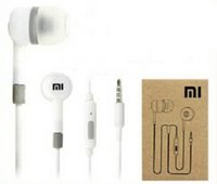 Wholesale headphones remote box - 3.5mm xiaomi In-Ear Earphone headphone With Mic and Remote headphone white black with retail box for XiaoMi Mi Smart Phones 500pcs