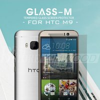 Wholesale M7 Screen Protectors - HTC One M9 Plus M9 M8  M7 A9 Tempered Glass Screen Protector 0.2MM 9H 2.5D Arc Explosion Proof With Retail package