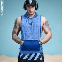 Wholesale- Aimpact Tank Top da uomo Fitness Bodybuilding Muscle Cut Stringer Tee Allenamento Crossfit Top Canottiera Activewear Maschio 2AM1008