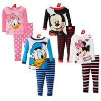 Wholesale Babys Clothes Free Shipping - Babys Sleepwear Cotton Boys Pyjamas Girls Clothing Children's Clothes Baby Sets Underwear kids pajama sets Free shipping