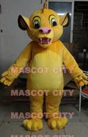 Wholesale Orange Lion Costume - Big Discount Promotions!! Lion King Simba Mascot Costume Classical Cartoon Character Mascota Outfit Suit Fancy Dress SW800