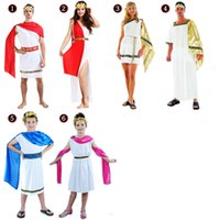 Wholesale Grecian Wholesalers - CHILDREN ADULT GIRL BOY GRECIAN COSTUME GREEK PRINCESS KING COSPLAY FANCY DRESS Sexy