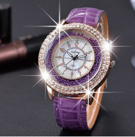 Wholesale Trendy Leather Watches Wholesale - Relogio Feminina 2015 New Trendy Style Gogoey Rhinestone Watches Women Quartz Watch Fashion Casual Leather Wristwatches Reloj Mujer