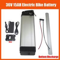 elektrische fahrrad-lithium-batterie 36v 15ah großhandel-Mehr Rabatt Bottom Entladung 500W 36V Scooter Elektro-Bike-Akku 36V 15AH Lithium-Akku mit 42V 2A Ladegerät und BMS