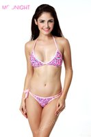Wholesale Heart Shaped Swimwear - w1022 2015 Fashion Push up bikini women heart swimsuit sexy bathing suit swimwear Deep V-shaped Bandeau bikini set Pink Color
