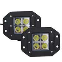 Wholesale Drive Led For 12w - 10pcs 3inch 12W Waterproof CREE LED Light Bar Spot Flood lamp LED Working Light for SUV Off-road Boat Truck Tractor Headlight Driving Light