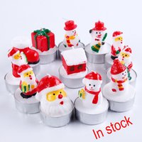 Wholesale Colored Led Tealight Candles - Christmas Ccandle Battery Operated Flicker Flameless LED Tealight Tea Candles Light Birthday Party Christmas Decoration Free DHL XL-351