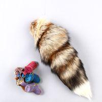 Wholesale Tail Keychain Fashion - Sun Fox Tail Pendant Tide Fur Keychain Bag Ornaments Fashion Oversized Popular Minimalis