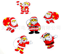Wholesale L Brooch - Free shipping lovely Santa Claus brooch enfeites de natal beautiful christmas supplies