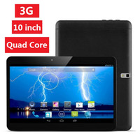 Wholesale Tablet 1g 8g - 10 inch Tablet 3G tablet Dual core 1G+8G MTK6572 Android 4.4 phone call GPS Bluetooth Wifi Dual Camera DHL FREE
