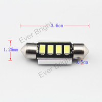 Wholesale Canbus 36mm 4smd - 500pcs 4smd 5630 5730 fecstoon led canbus no error festoon 31mm 36mm 39mm 42mm super bright car dome reading styling lights Car Reading lig