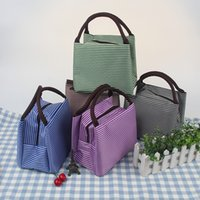 Wholesale Wholesale Bag Manufacturers - 2017 New Fashion Portable Insulated Canvas Lunch Bag Thermal Food Picnic Lunch Bags For Women Kids Men Cooler Lunch Box Bag Tote