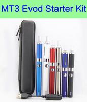 Wholesale Evod Battery Case - EVOD MT3 kit Long Zipper Case Kit e cigarette starter kits with EVOD battery MT3 vaporizer
