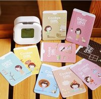 Wholesale Cookies Bunny - Wholesale-[ Clearance ] cat Bunny   cookie girl type cartoon clip monthly bus card sets^greeting card