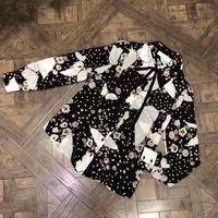 Wholesale Black Button Down Shirt Womens - Neck Tie Blouses Women 2017 Autumn Fashion Floral Print Blouse Vintage Womens Basic Long Sleeve Button Down Shirt