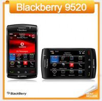 pantalla táctil de 256 mb al por mayor-Original 9520 BlackBerry Storm2 9520 teléfono celular 3.2 MP 3G WIFI GPS Pantalla táctil Smartphone reacondicionado