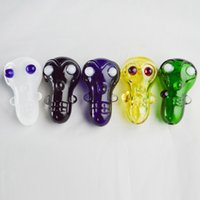 "Wholesale Small Monkey Wholesale - Animal Glass Pipes 3"" inch Monkey Hand Pipes 5 Colors Small Glass Pipes for Smoking Dry Herb Tobacco Pipes Oil Burner Glass Pipes"