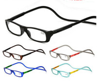 lesebrille alte leute großhandel-Harz Lesebrille Slim Magnet Lesebrille Brillen Weitblick 8 Farben hängen am Hals für alte Menschen