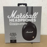 Wholesale Wireless Bass Guitar - Marshall MONITOR bluetooth Headphones Noise Cancelling Headset Deep Bass Studio Monitor Rock DJ Hi-Fi Guitar Rock headphone Earphone