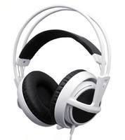 Wholesale Steelseries Siberia White - High Quality Professional Game Headset Steelseries Siberia V2 Full-Size Gaming Headphones Fast Free Shipping for DOTA CS CF LOL