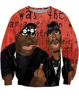 Wholesale Cool Long Women Shirt - 2016 New Styles Tupac 2Pac Women Men Sweatshirt Couples Unisex Full Tee 3D Novel Digital Print Cool Hip Hop T-shirt Tops Casual shirt #W259