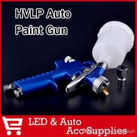 Wholesale Spray Paint Alloys - H2000 Mini HVLP Traditional Auto spray gun with 0.8mm nozzle Automotive Shop Paint Gun tool Navy Blue Air Brush Alloy A3