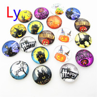 Wholesale Wholesale Glass Beads For Sale - Mixed 18mm Snap On Charms for Bracelet Necklace Hot Sale DIY Findings Glass Snap Buttons Jewelry Halloween Phantom series Design noosa AC028