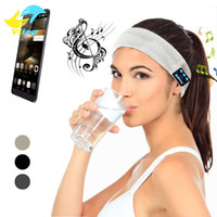 Wholesale X Speakers - For Iphone 8 X Samsung bluetooth Earphone Sports Headband with Speaker Running Headphone Wireless BLuetooth Headset with Mic